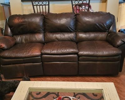 Reclining Leather Sofa and Loveseat.