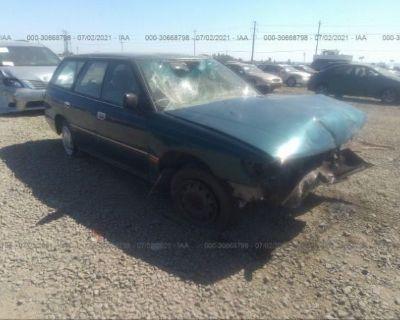 Salvage Green 1994 Subaru Legacy