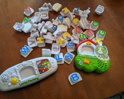 Two leap frog electronic letter games