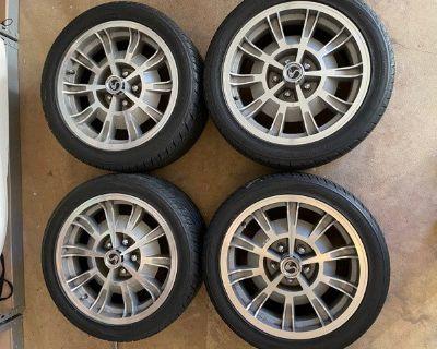 """17"""" Shelby 10-spoke wheels on Toyo 245/255 tires"""