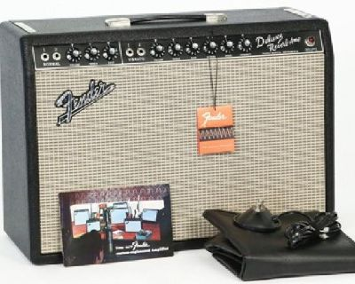 1967 Fender Deluxe Reverb Vintage Electric Guitar Amplifier Princeton Tube Amp