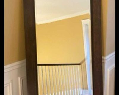 Ornate stand up mirror