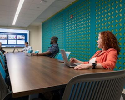 Private Meeting Room for 16 at Flywheel Coworking at the Cabarrus Center