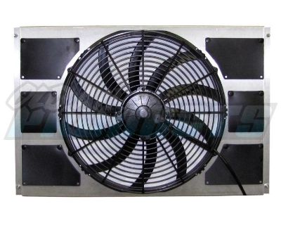 Electric Fan & Shroud Assembly, 2070 Cfm 1963-66 Chevy Truck [50-167252-16shp]