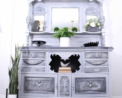 Antique Victorian Carved Hutch