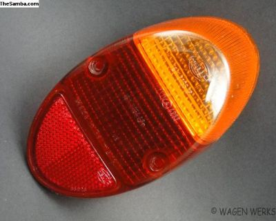 Tail Light Lens Bug 1962 to 1967 Amber Top Hella