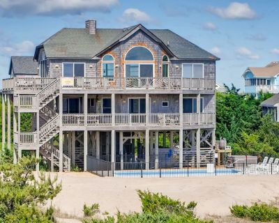Spacious Oceanfront Retreat w/Saltwater Pool, Hot Tub, WiFi, Fish Cleaning Table - Salvo