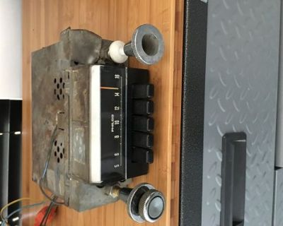 1968 Ford Mustang Gt Original Fomoco Am Radio Light Works ! Uncut Wires ! Knobs