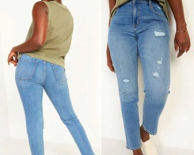 NWOT Old Navy Power Slim Straight High Rise Jeans with Slim Pockets