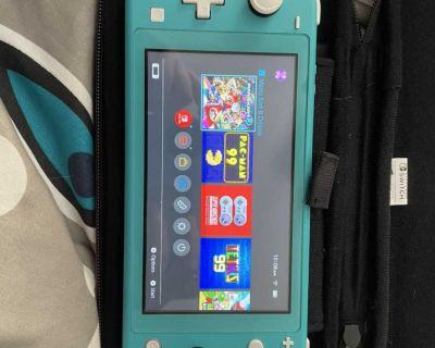 Nintendo Switch Lite + Games & Carrying Case