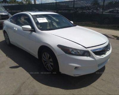 Salvage White 2011 Honda Accord Cpe