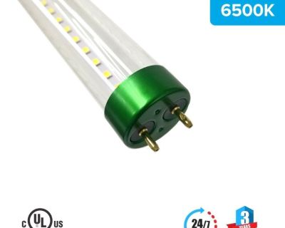 T8 4ft 18W LED Tube Glass 6500K Clear Single Ended power 1-Pack