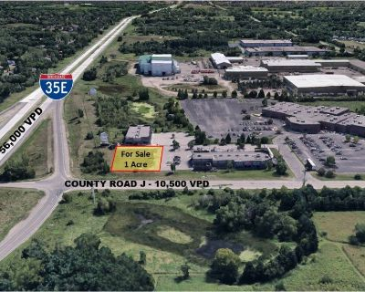 I Acre Site/Pad at I-35E & Cnty Rd J - Direct Interstate Visibility - Zoned B-2
