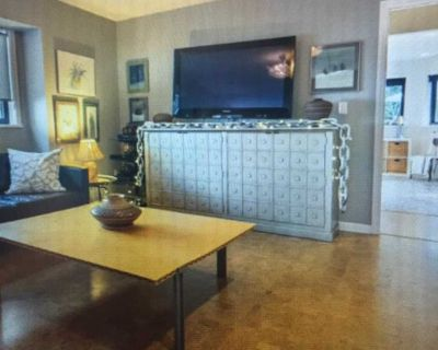 Large silver/grey painted credenza