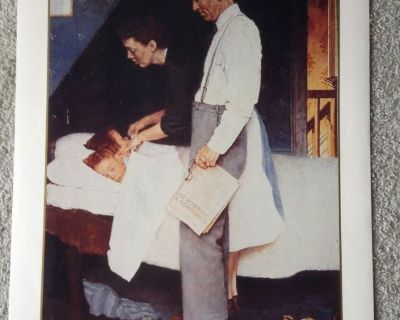 """""""Freedom from Fear"""" Norman Rockwell Vtg Print - No. 11957 - 1990"""