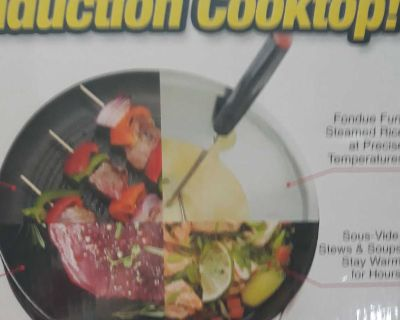 """Induction Cooktop from Nuwave 2 with a 9""""Duralon 2Ceramic non stick Fry Pan"""