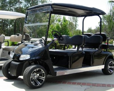 golf cart stretched six 6 seat limo shuttle seater