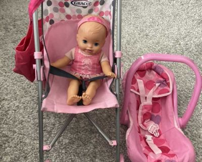 Graco stroller and baby carrier with bag