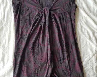 Purple cotton maternity shirt