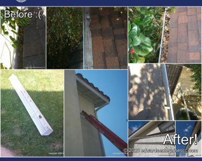 Encino Rain Gutter Cleaning and Minor Repairs