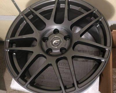 "Forgestar gunmetal 18"" F14 wheels New in Box"