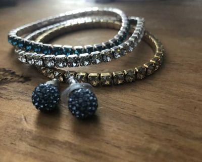 Swarovski bracelets & earrings
