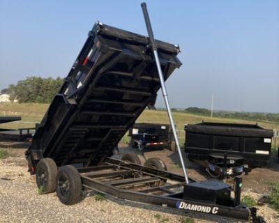 """2021 77"""" x 12' Bumper Hitch Dump Trailer Diamond C"""