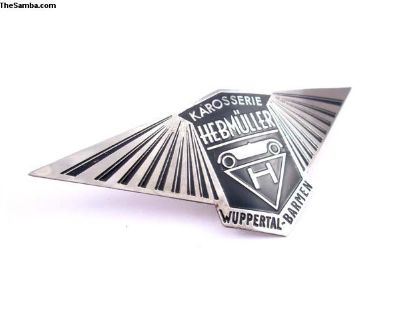 Hebmuller Body Badge Plate Emblem