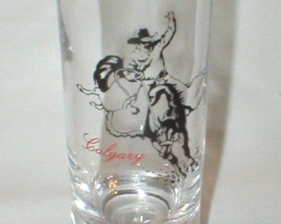Bronco Rider - Calgary Canada Tall Shot Glass - Never Used, Only Displayed