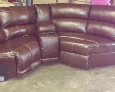 beautiful Ashley leather sectional