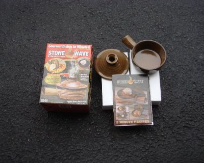 NEW STONE WARE CERAMIC MICROWAVE COOKER