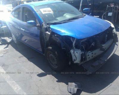 Salvage Blue 2013 Nissan Versa