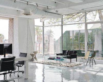 The American Cement Building Studio with Skyline and Outdoor Space, Los Angeles, CA