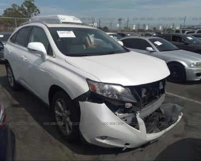 Salvage White 2012 Lexus Rx 350
