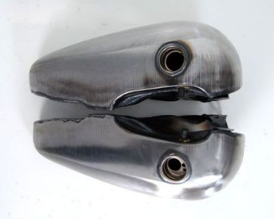 3.5 Gallon Fat Bob Harley Gas Tanks - Screw In Style Gas Cap Bungs Fx Fl