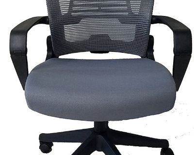 Ergo Office Chair Grey with Black Frame Easy Folding - New!