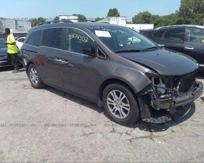Salvage Gray 2012 Honda Odyssey