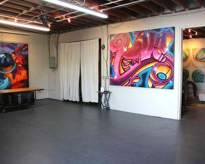 LAX Graffiti Art Loft and Yard - Natural light indoor/outdoor with parking, El Segundo, CA