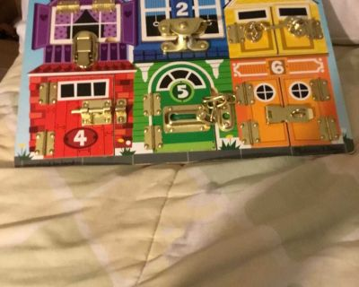 Melissa & Doug Latches Board (Wood with 6 types of locks)