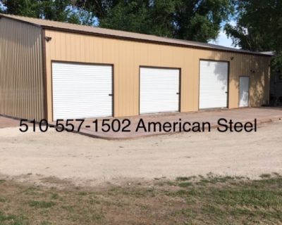 American Steel Metal Garage Shops RV Car Boat Carports