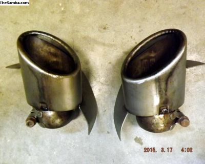 Porsche 993 Stainless Steel Tail Pipes