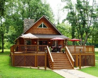 Cabin with River Front Private Access Hot Tub - Pebble Beach River Cabin - Shenandoah