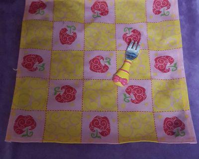 Disney Tollytots Doll Picnic Blanket and Fork