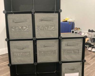 Storage Furniture: 12-Cube Closet Organizer & 8-Pack Storage Bins