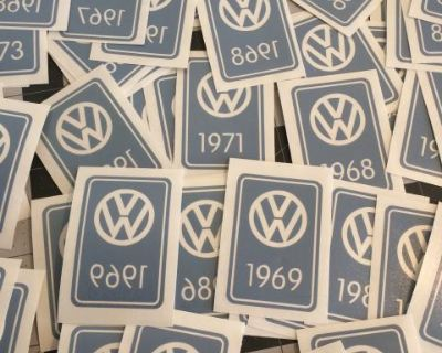 VW vintage YOM 'year of manufacture' Decal Sticker