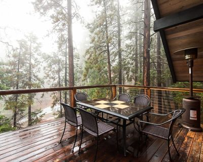 Beautiful, dog-friendly cabin with large decks, forest views, jetted tub, & more - Pine Cove