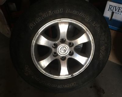 2 BF Goodrich p265/55r17 tires with Toyota rims