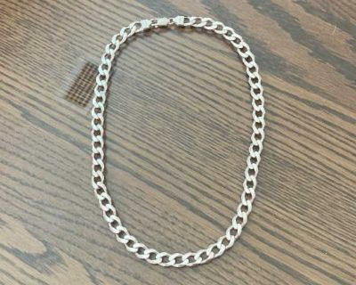 """Beautiful Sterling Silver Heavy 18"""" Link Chain"""