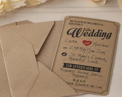 Wedding Ceremony/Reception Candles & Invitations