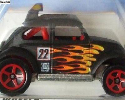 Hot Wheels Baja Bug - black w/flames